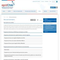 INFORMACIONES GENERALES - AGCId Chile