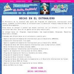NICARAGUA - Becas Internacionales