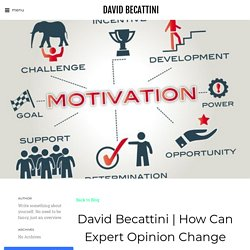How Can Expert Opinion Change Your Business Face and Increase Your Sales - DAVID BECATTINI
