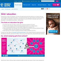 Because I am a Girl - Girls' education