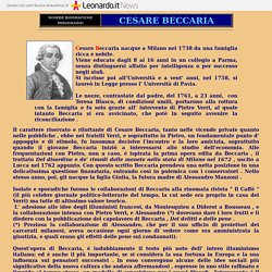 CESARE BECCARIA -  BIOGRAFIA - DEI DELITTI E DELLE PENE