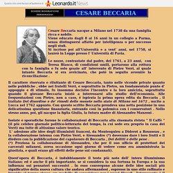 CESARE BECCARIA - BIOGRAFIA - DEI DELITTI E DELLE PENE