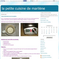 Sauce béchamel avec le soup&co - la petite cuisine de marilène