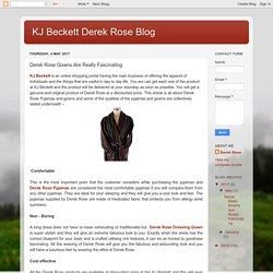 KJ Beckett Derek Rose Blog: Derek Rose Gowns Are Really Fascinating