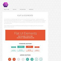 Andrew Beckwith » Design Freebie:Flat UI Elements PSD