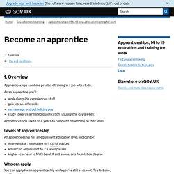 Apprenticeships