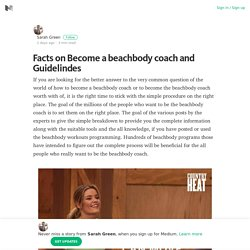 Facts on Become a beachbody coach and Guidelindes