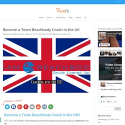 Become a Team Beachbody Coach in the UK - ThankFit