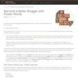 Become a Better Blogger with Power Words