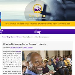 How to Become a Better Sermon Listener