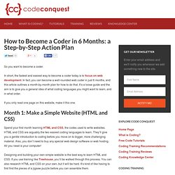 How to Become a Coder in 6 Months: a Step-by-Step Action Plan