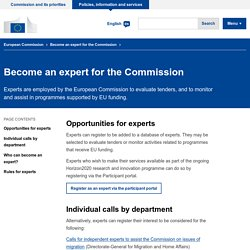 Become an expert for the Commission