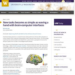 New tasks become as simple as waving a hand with brain-computer interfaces