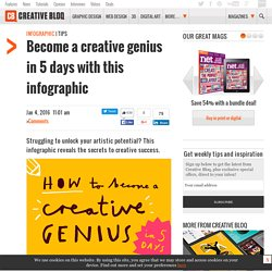 Become a creative genius in 5 days with this infographic