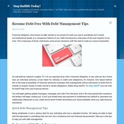 Become Debt Free With Debt Management Tips