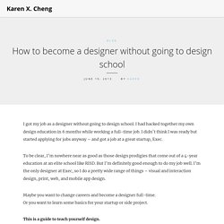 How to become a designer without going to design school
