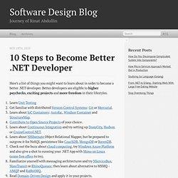 10 Steps To Become Better .NETDeveloper