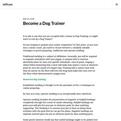 Become a Dog Trainer – Beaverton dog trainers