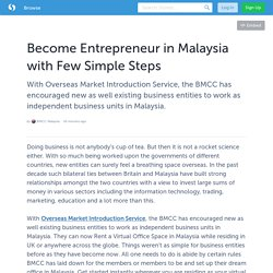Become Entrepreneur in Malaysia with Few Simple Steps