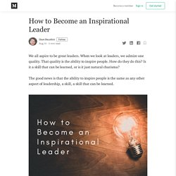 How to Become an Inspirational Leader