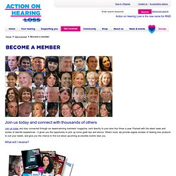 RNID.org.uk: How you can help: Become a member: Member community: Volunteering and campaigning: Volunteering and campaigning