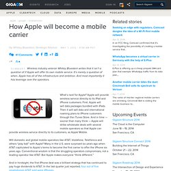 How Apple will become a mobile carrier — Apple News, Tips and Reviews