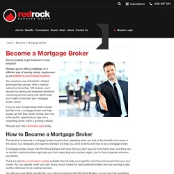 Become a Mortgage Broker - Red Rock Brokers Group