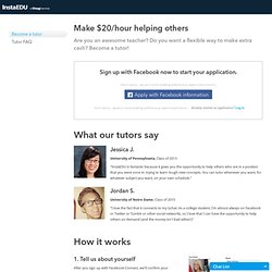 Become an Online Tutor - InstaEDU