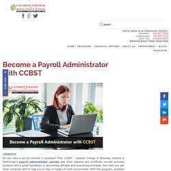 Become a Payroll Administrator with CCBST