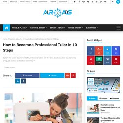 How to Become a Professional Tailor in 10 Steps - airGads