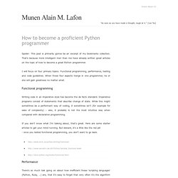 How to become a proficient Python programmer