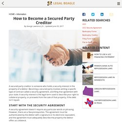 How to Become a Secured Party Creditor
