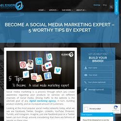 Become A Social Media Marketing Expert – 5 Worthy Tips by Expert