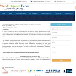 Become a Sponsor/Exhibitor at the World Litigation Forum