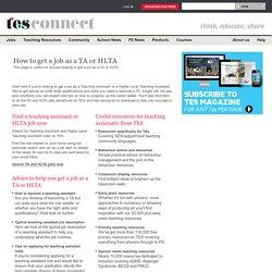 How to become a Teaching Assistant or an HLTA - Jobs - TES