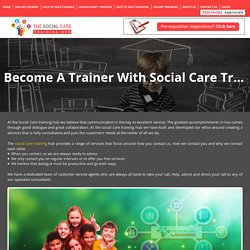 Become A Trainer With Social Care Training