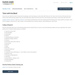 Become a Tutor.com Tutor: Work at Home, help students and earn extra income - Tutor.com