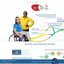 Become a volunteer for Rio 2016 Olympic Games