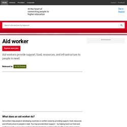 How To Become A Aid worker