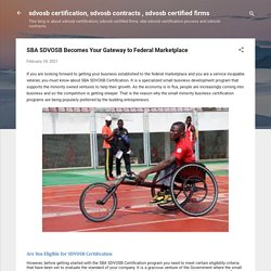 SBA SDVOSB Becomes Your Gateway to Federal Marketplace