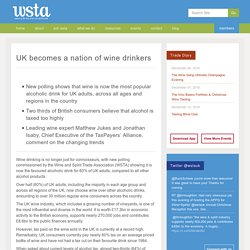 UK becomes a nation of wine drinkers