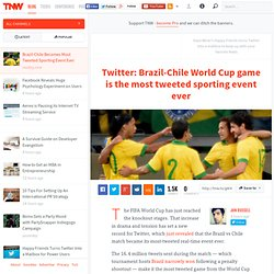 Brazil-Chile Becomes Most Tweeted Sporting Event Ever