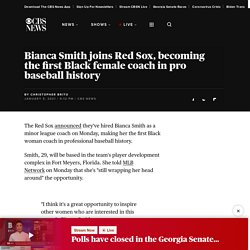 Bianca Smith joins Red Sox, becoming the first Black female coach in pro baseball history