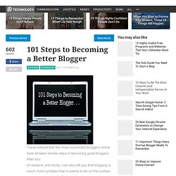 101 Steps to Becoming a Better Blogger - Stepcase Lifehack