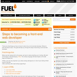 Steps to becoming a front-end web developer