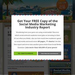 9 Tips for Becoming a Social Media Influencer Social Media Examiner