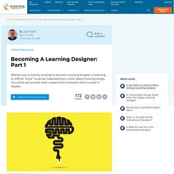 Becoming A Learning Designer: Part 1