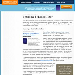 Becoming a Phonics Tutor - Mastering Phonics Instruction