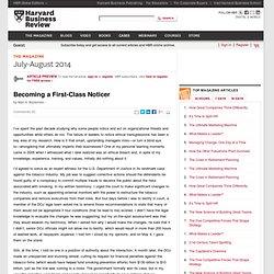 Becoming a First-Class Noticer