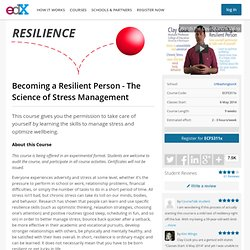 Becoming a Resilient Person - The Science of Stress Management
